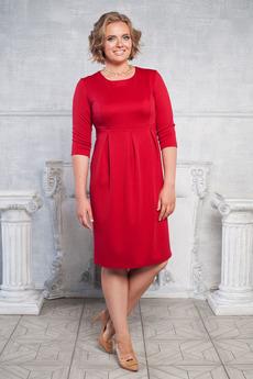Платье с отрезным низом со складками Angela Ricci со скидкой